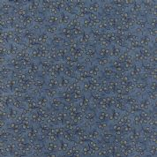 Moda - Summer on The Pond by Holly Taylor - 5731 - Ditsy Leaves on Blue - 6724 12 - Cotton Fabric